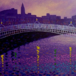 Ha Penny Bridge Dublin Card