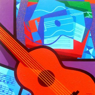 Homage To Juan Gris - Acrylic on deep edge canvas 20