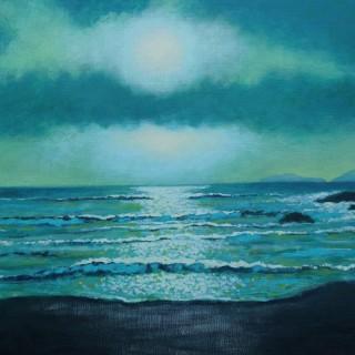 Coumeenole Beach, Dingle Peninsula, County Kerry - Acrylic on canvas board - 20