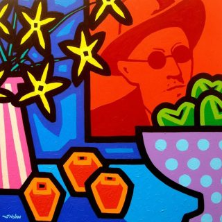 Stll Life with James Joyce - Acrylic on deep edge canvas 24