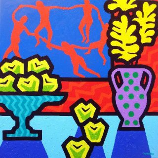 Still Life with Matisse Acrylic on deep edge canvas   24