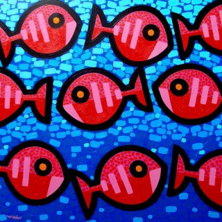 9 Fish Aswim  SOLD OUT