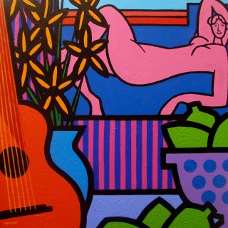 Still Life with Matisse's Nude - Acrylic on deep edge canvas - Square 24