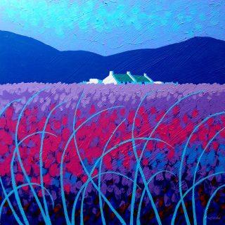 Lavender Scape - Acrylic on deep edge canvas  20