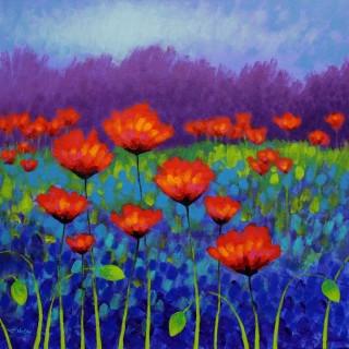 Poppy Meadow - Acrylic on deep edge canvas -  24