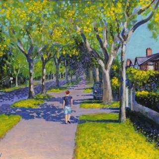 Griffith Avenue - Acrylic on canvas panel  10