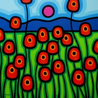 Poppies In Motion - Acrylic on deep edge canvas - Square  27