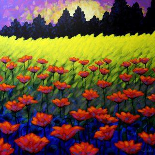 Poppy Vista - Acrylic on deep edge canvas 47