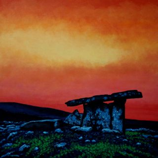 Poulnadrone Dolmen - Acrylic on deep edge canvas Square 24