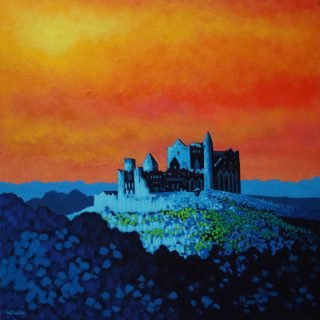 Rock of Cashel - Acrylic on deep edge canvas Square 24