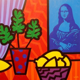 Still Life With Matisse And Mona Lisa  SOLD OUT