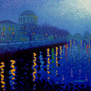The Four Courts - Starry Night In Dublin Series SOLD OUT