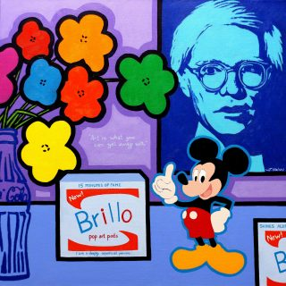 Homage to Andy Warhol -  -  mounted and presented with backing board in a cello bag, Print size 12