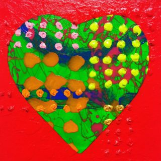 Abstract Heart - Original acrylic painting on stretched deep edge canvas 8