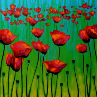 SOLD OUT Poppy Dance - High quality Giclee print 19