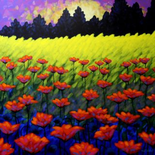 SOLD OUT Poppy Scape - High Quality Giclee print 21