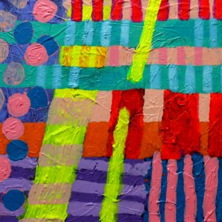 Abstract 81019 acrylic on stretched canvas 20