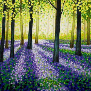 Bluebell Carpet - acrylic on stretched canvas - SOLD
