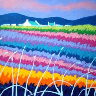 Rainbow Meadow II - acrylic on stretched canvas 20