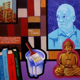 Homage to Sean Scully - acrylic on deep edge canvas - 20