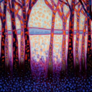 Shadow Trees - acrylic on stretched canvas - 20