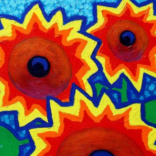 3 Sunflowers 11inches X 14inches €250