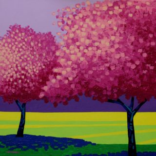 Cherry Blossom Duet Acryic On Stretched Canvas 51cm X 51cm 650 Euro
