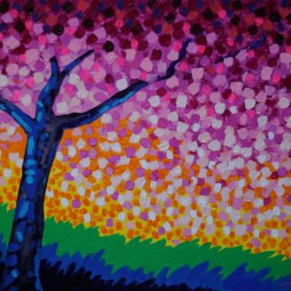 Cherry Blossoms Acrylic On Stretched Canvas 41cm X 51cm 650 Euro