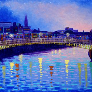 Ha Penny Bridge Acrylic On Stretched Canvas SOLD €750