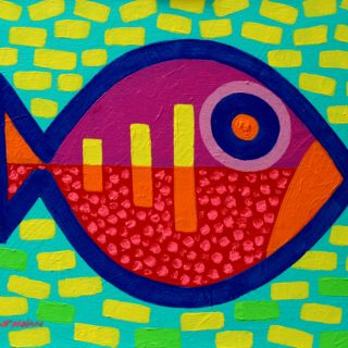Pisces 11 Inches X 14 Inches Acrylic On Stretched Canvas €250