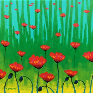 Poppy Dance Acrylic On Stretched Canvas €350 16 Inches X 16 inches