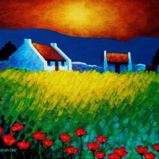 Red Door 11 Inches X 14 Inches Acrylic On Stretched Canvas SOLD €250
