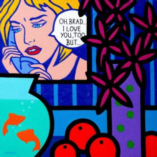 Homage To Lichtenstein II Acrylic On Deep Edge Canvas 20x20 Inches Varnished Unframed Price €975