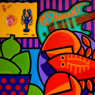 Homage To Rock Lobster The B 52s 39x39 Inches Varnished Unframed Price €1875