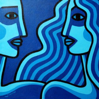 Watching Me Watching You Acrylic On Deep Edge Canvas 40cm X 40cm Price €550