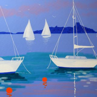 Dalkey Island Acrylic On Deep Edge Canvas 28inches X 40 Inches Framed €1,975 Prints available 7 2020 003
