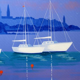 Dunlaoghaire Vista Acrylic On Deep Edge Canvas 28inches X 40 Inches Framed €1,975 12 Limited Edition, Gicleé prints of selected paintings are also available. Each print is signed, numbered and titled by John. The image size is 28 by 40cm approx on ivory mount measuring 40 by 50cm. Each print is priced at €165.