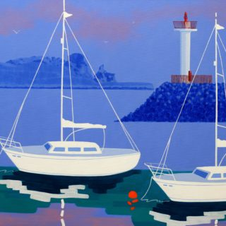 Irelands Eye Howth Acrylic On Deep Edge Canvas 28inches X 40 Inches Framed €1,975 Prints available  13 7 2020 001