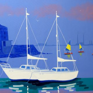 Seapoint Monkstown Acrylic On Deep Edge Canvas 28inches X 40 Inches Framed €1,975 Prints Available 8 7 2020 001