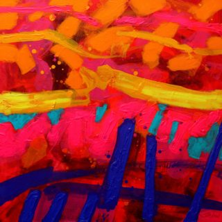 Slip Stream 22 9 2020 024- acrylic and gel medium on deep edge canvas - varnished - floating frame - canvas size 70cm x 70cm - price €1,295