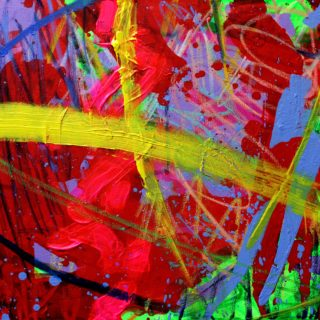 Turning Point 25 9 2020 - SOLD - acrylic and gel medium - deep  edge canvas - varnished  - 20