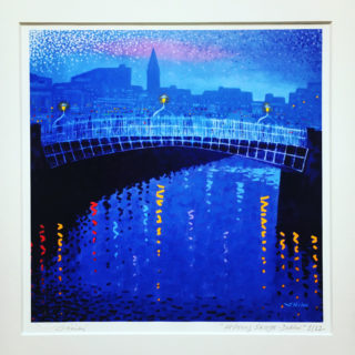 Ha'Penny Bridge - 12 Limited edition prints, signed, numbered and stamped by the artist -print size 12