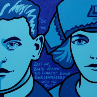Sheldon Scott And Zelda Fitzgerald Acrylic On Deep Edge Canvas 20 X 20 SOLD 850e