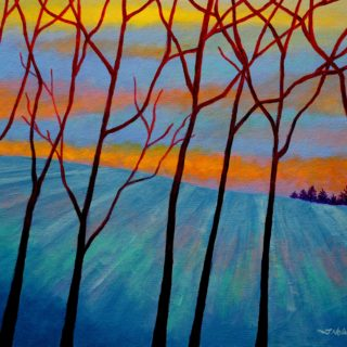 7 Trees 14 11 2020 052 - Acrylic on stretched canvas - 20