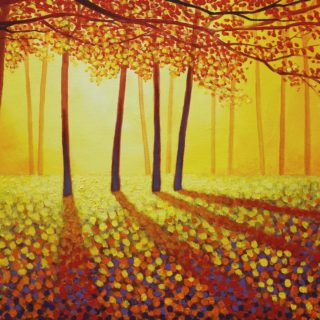The Autumn Leaves 7 11 2020 126 - SOLD -  acrylic on stretched canvas - 20