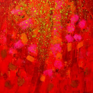 Embrace The Moment 25 11 2020 001 - acrylic and gel medium on Deep edge stretched canvas - varnished - 39