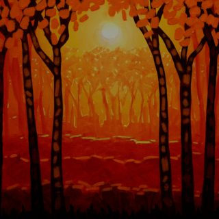 Autumn Woods 4 11 2020 051- Acrylic on stretched canvas - varnished- framed - 20