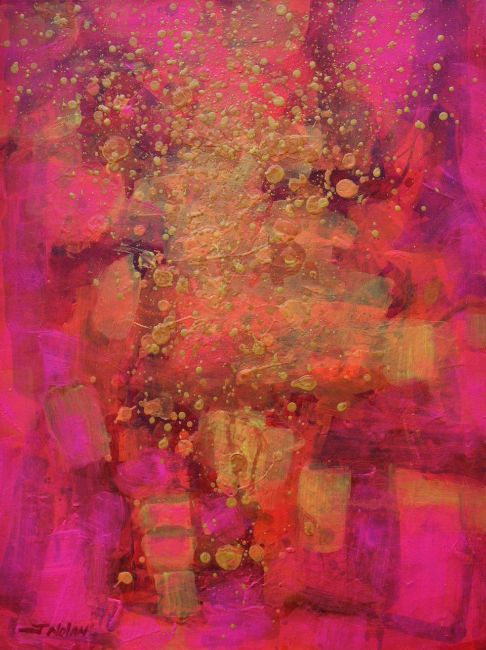 Colour Cornucopia II 18 11 2020 005 – Acrylic and gel medium on stretched canvas – varnished -31″  X  23.5″ – €1,850
