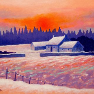 Snow Scape 13 11 2020 001-acrylic on stretched canvas - 20