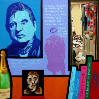 Homage To Francis Bacon - Giclee mounted and presented with backing board in a cello bag, Print size 12